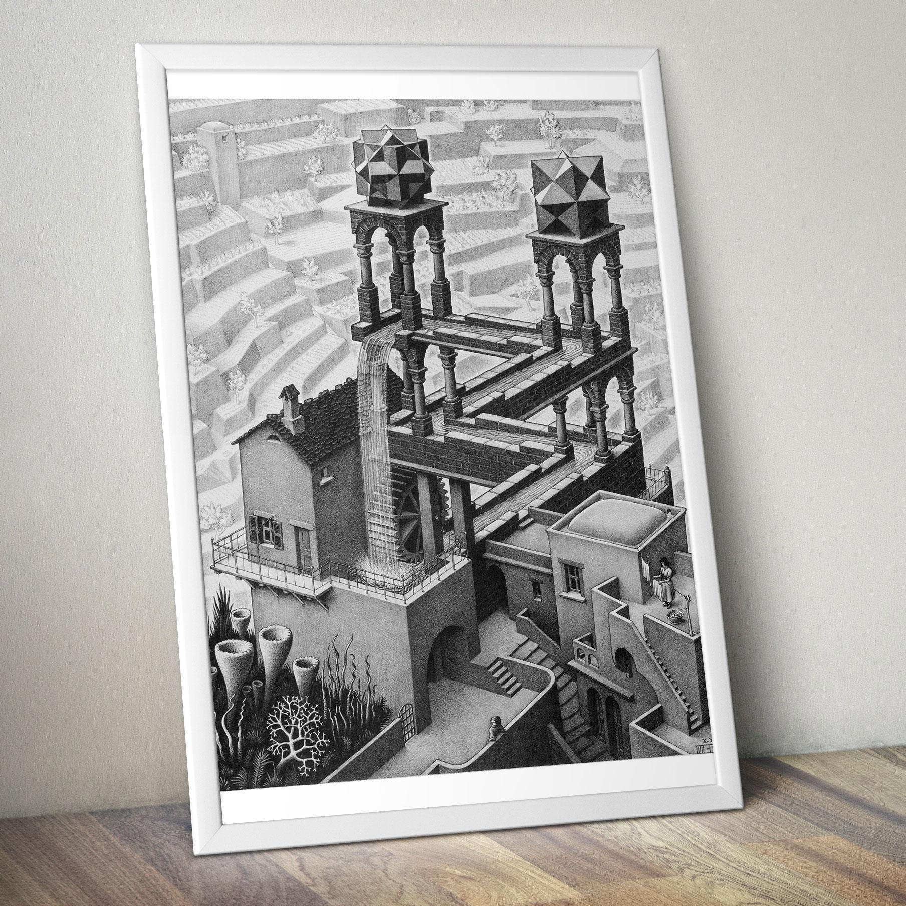 M C ESCHER Maurits Cornelis Art Surreal Poster Print FRAME OPTIONS A4 A3 A3+
